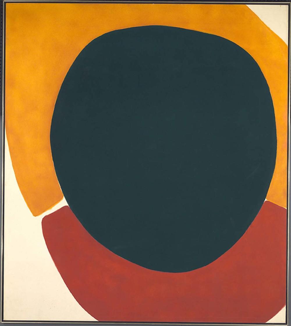 Cadmium Orange of Doctor Frankenstein, 1962, magna acrylic on canvas, 228.93 x 203.53 cm