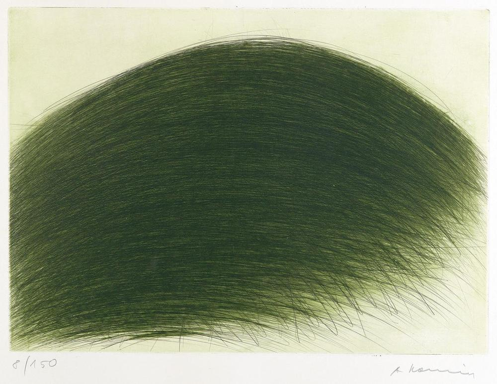 Gruner Berg, 1971,etching