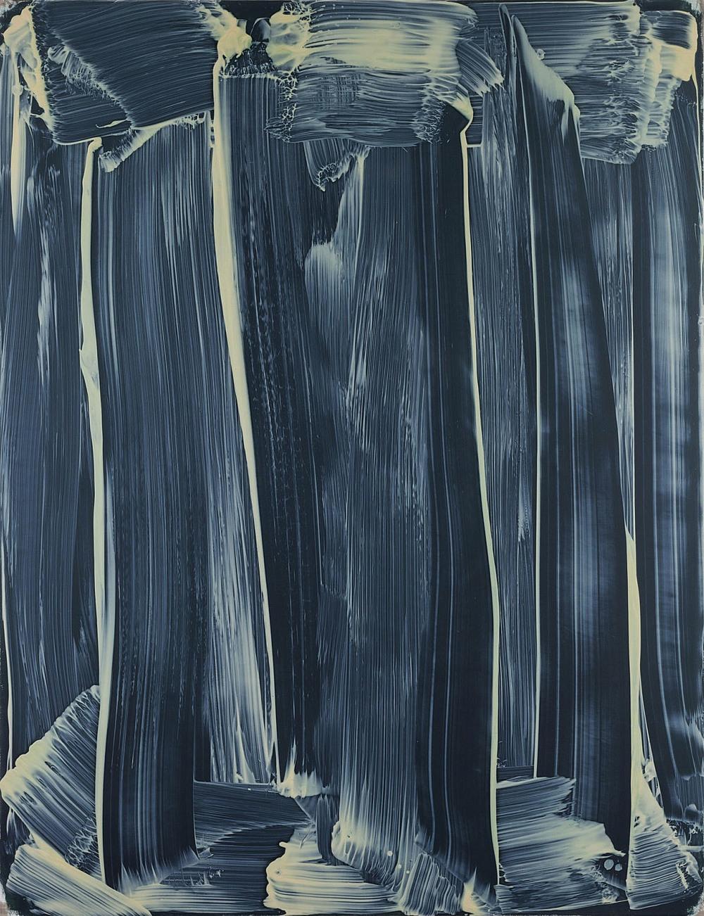 Rhythmische Klangformen: Eine Studie, 2014, Oil, wax, flour on linen, 137 × 106 cm