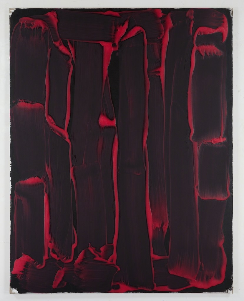 Days of Hand, 2014, Oil, wax, flour on linen, 195.6 × 152.4 cm