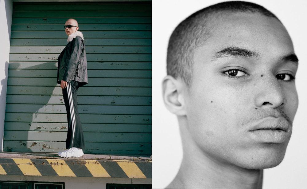 Thilo jacket TOPSHOP UNIQUE pants and shoes ADIDAS sunglasses STYLIST'S OWN.Alec