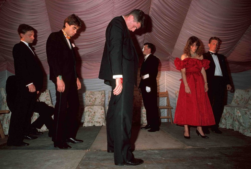 GB, England, Oxford, Students under hypnosis at Spring Ball, 1989, From the Pleasure Principle