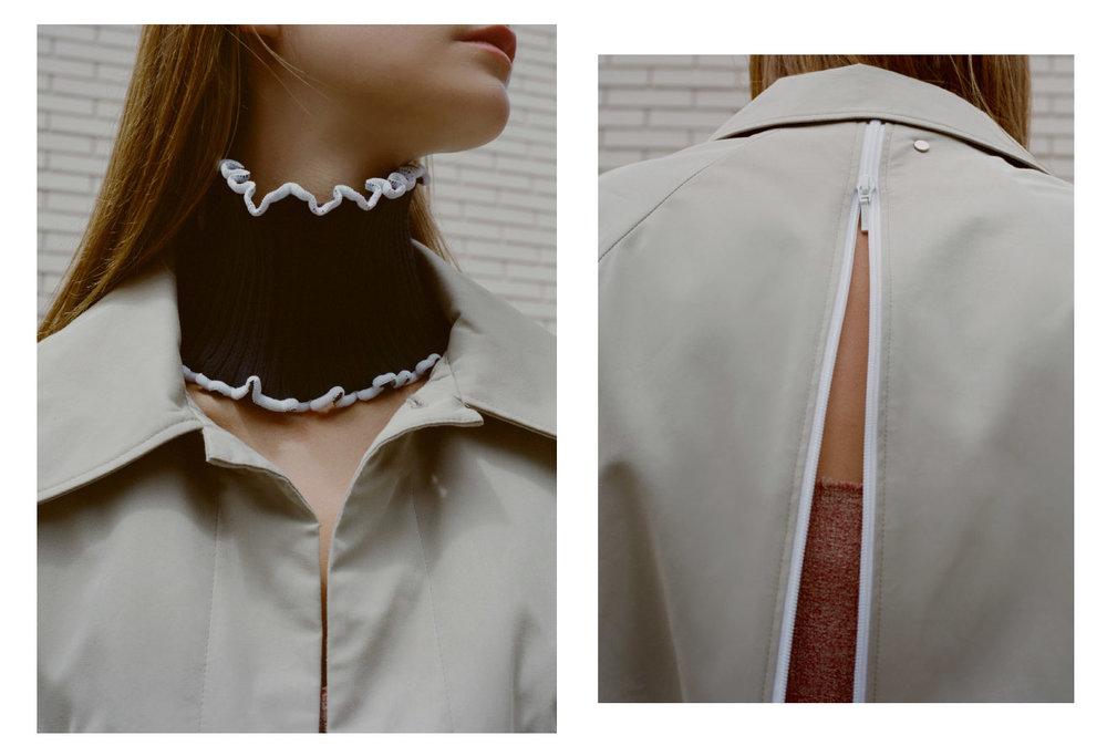 coat   BACK   collar   J.W.ANDERSON  . coat   BACK   dress   JH ZANE