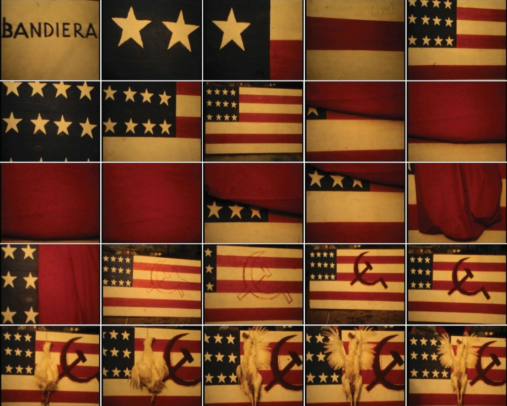 Flag, 1974, silent movie, colour movie, 8 mm