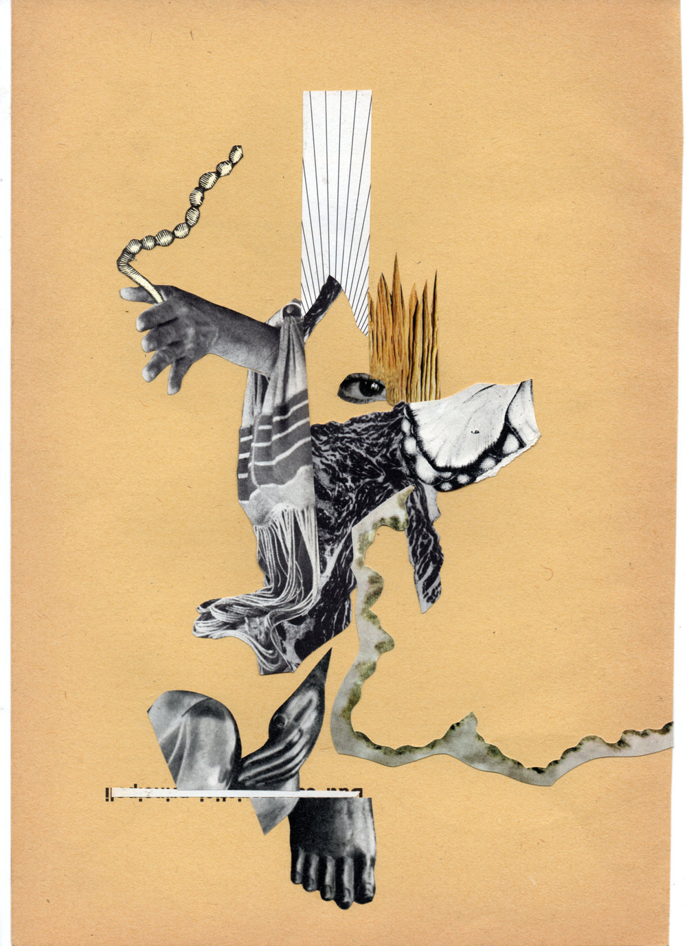 6 Hands Collage, created by Bill Noir & Emidio IsHere & Jonathan Tegelaars, 2105, 23 x 30 cm