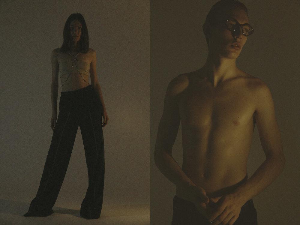 bra   MAX MARA   harness   STYLIST'S OWN   pants   AQUILANO RIMONDI  . glasses   BALENCIAGA   pants   LEVI'S