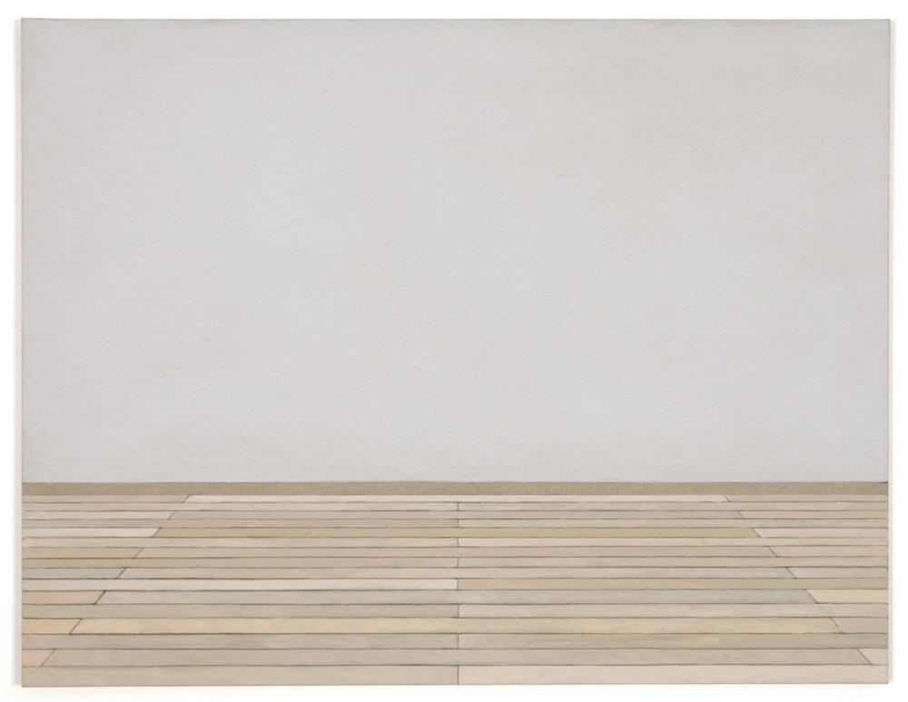 Atelier côté est. Diptych 2/2, acrylic and graphite pencil on linen, 89 x 116 cm