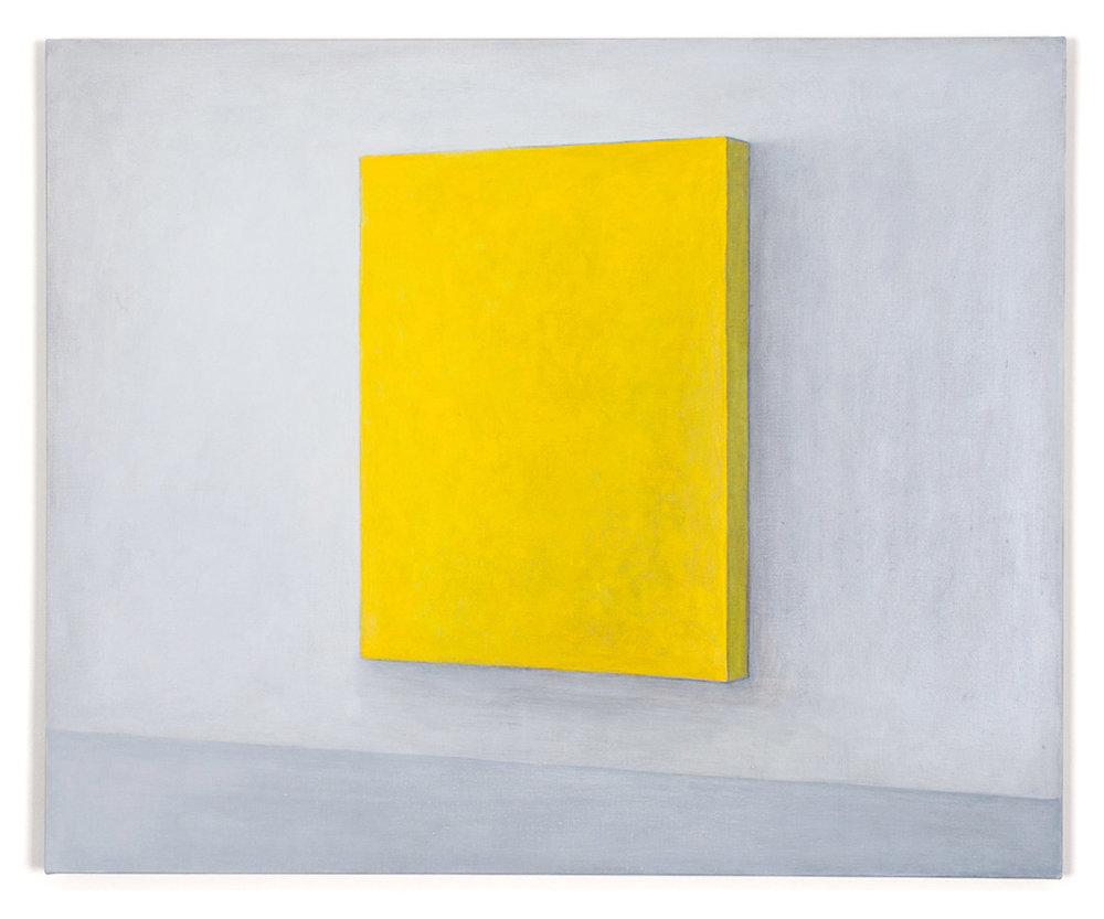 Petit jaune figure. Acrylic and graphite pencil on linen, 60 x 73 cm