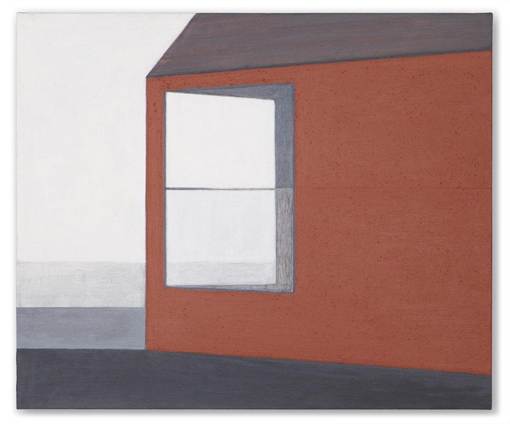 Atelier belge. Acrylic on linen, 46 x 55 cm