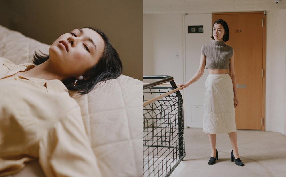 shirt  STYLIST'S OWN  earrings   ST, CAT  . top   3.1 PHILLIP LIM   skirt   VINTAGE MAX MARA