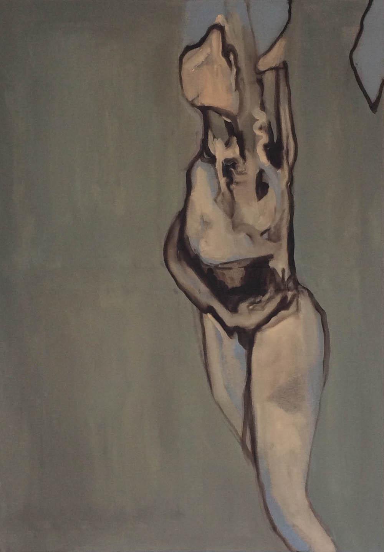 Humanoïde, 2016,incognito oil on linen,100 x 70 cm