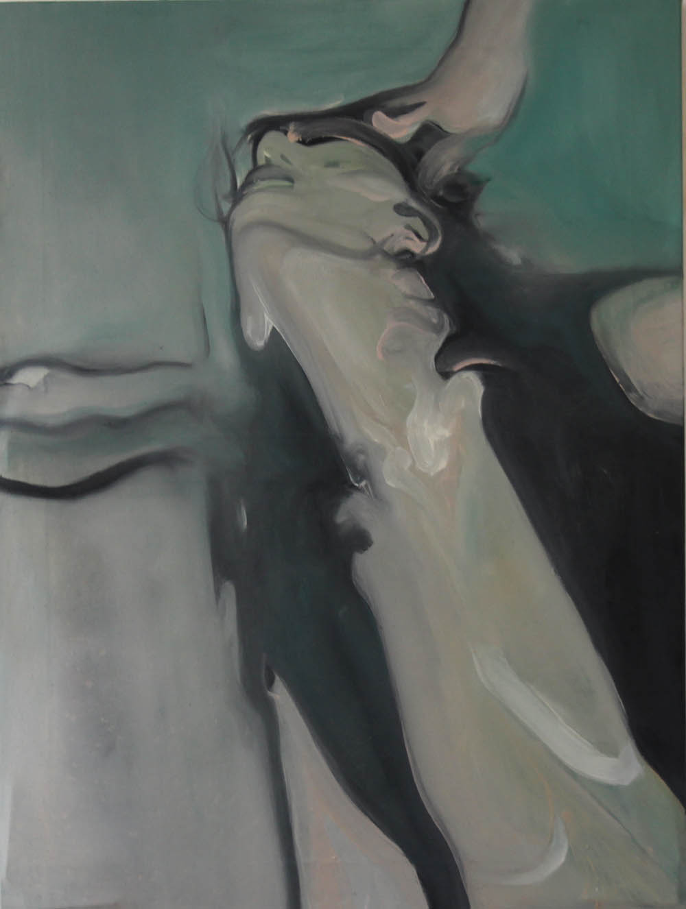 Bel-Ami or Peacock giving head, 2017, oil on canvas, 61 x 46 cm