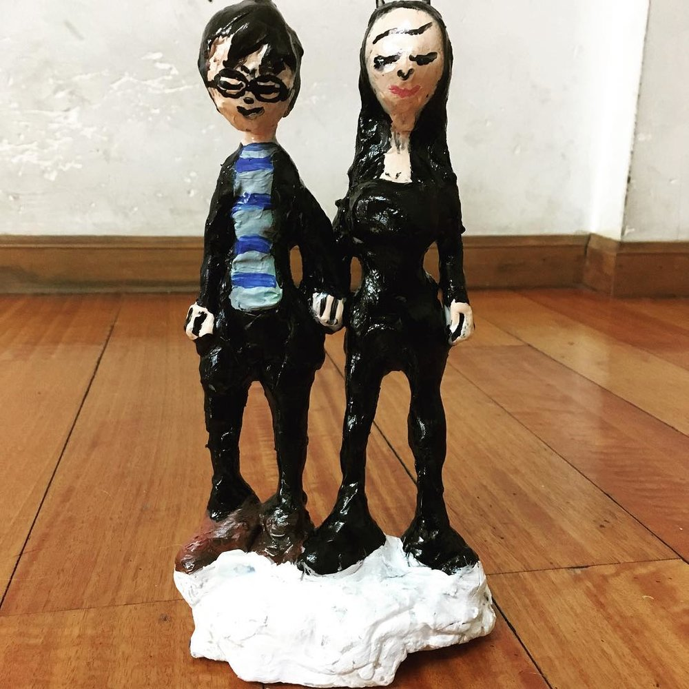 My sculpture of photography duo Inez and Vinoodh, they liked it too!