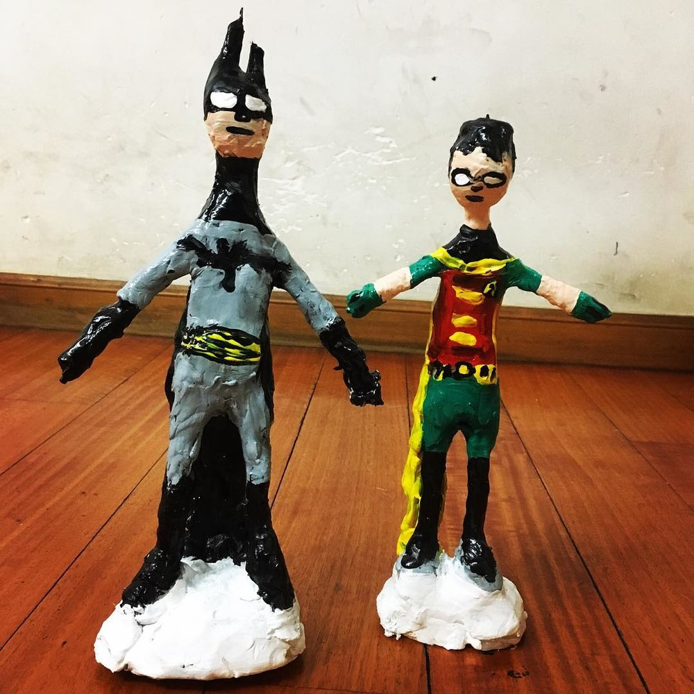 Batman and Robin's sculptures, they are actually a bigger size than the regular ones.
