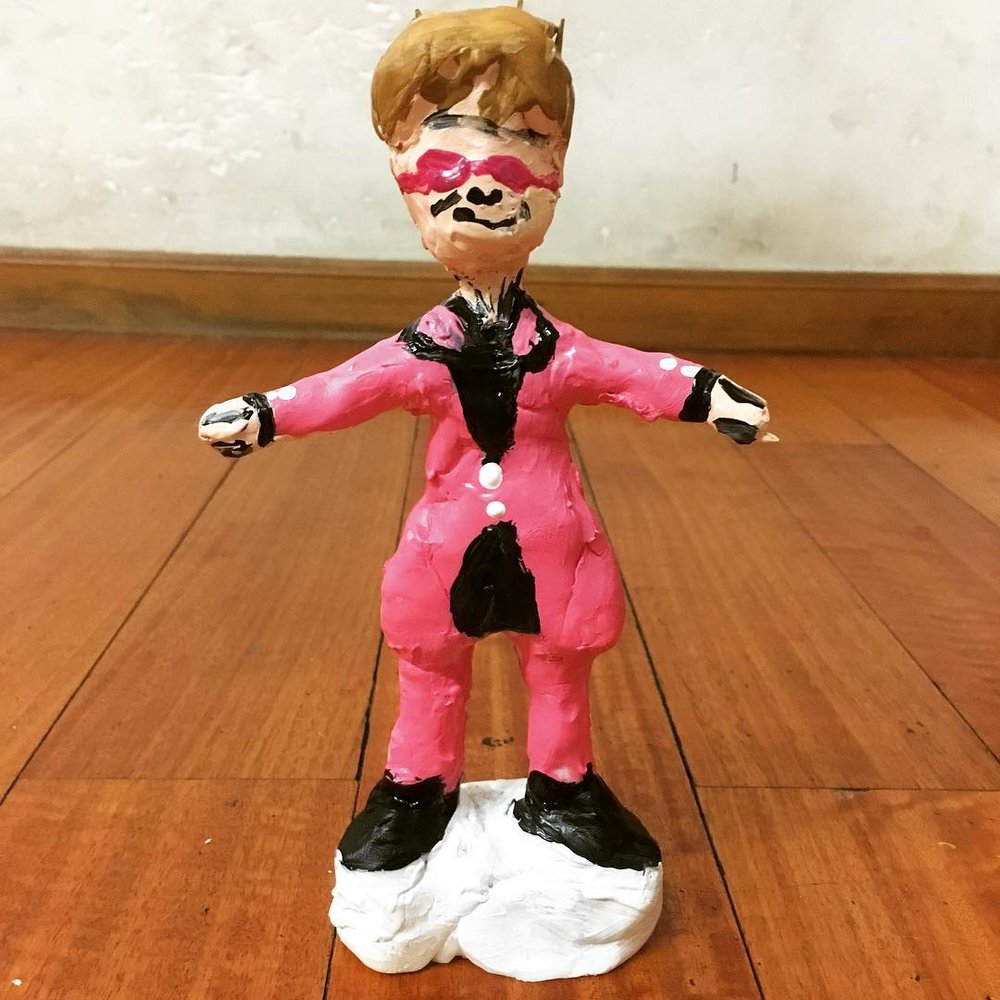 This Elton John sculpture was made as a 'get well soon' wish.