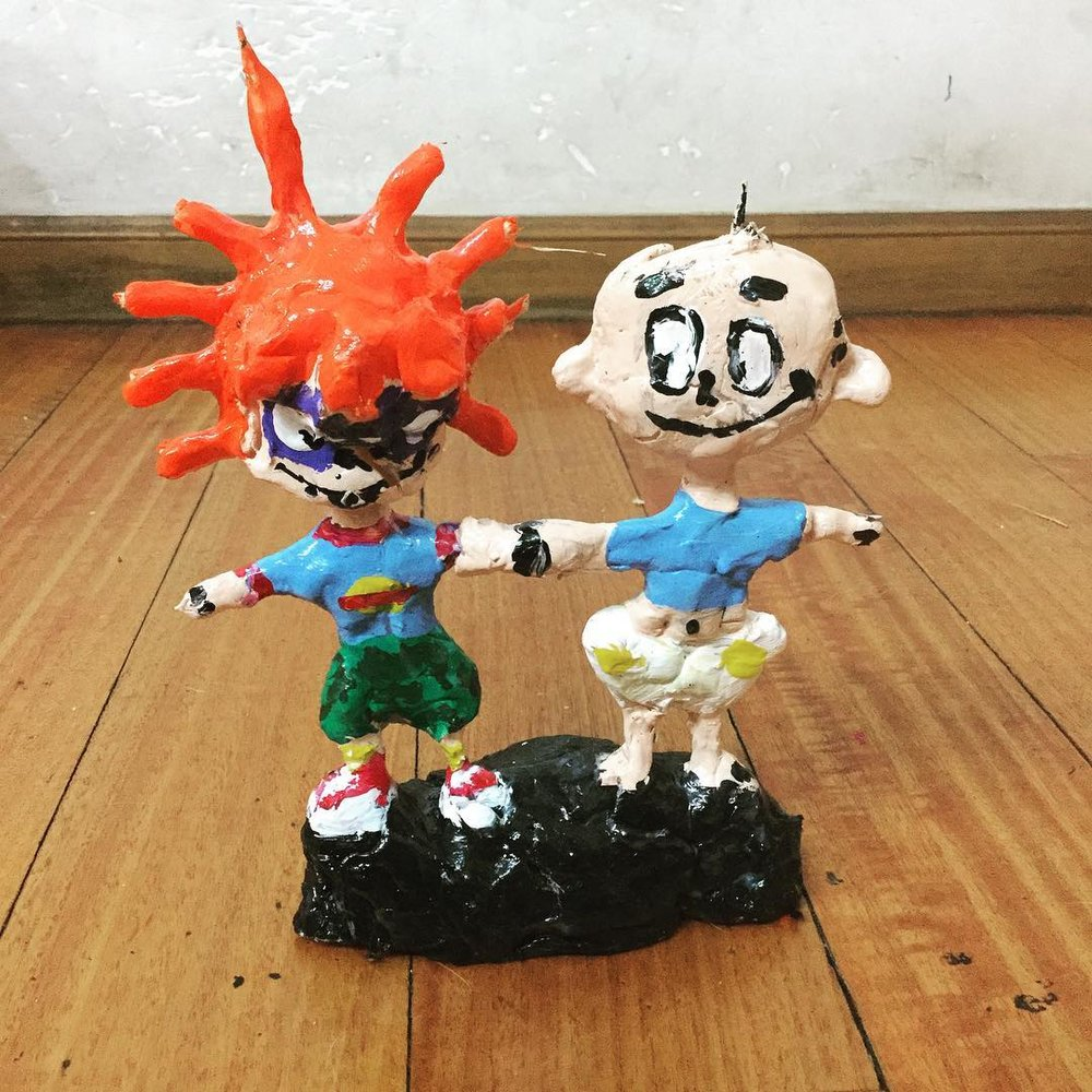My sculpture of Tommy and Chuckie- The classic Rugrats!
