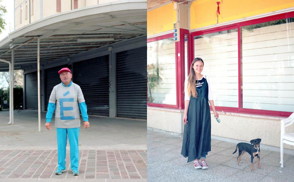 Rino wears t-shirt  ETUDES STUDIO .Virginia wears dress  CRISTOPHER LEMAIRE