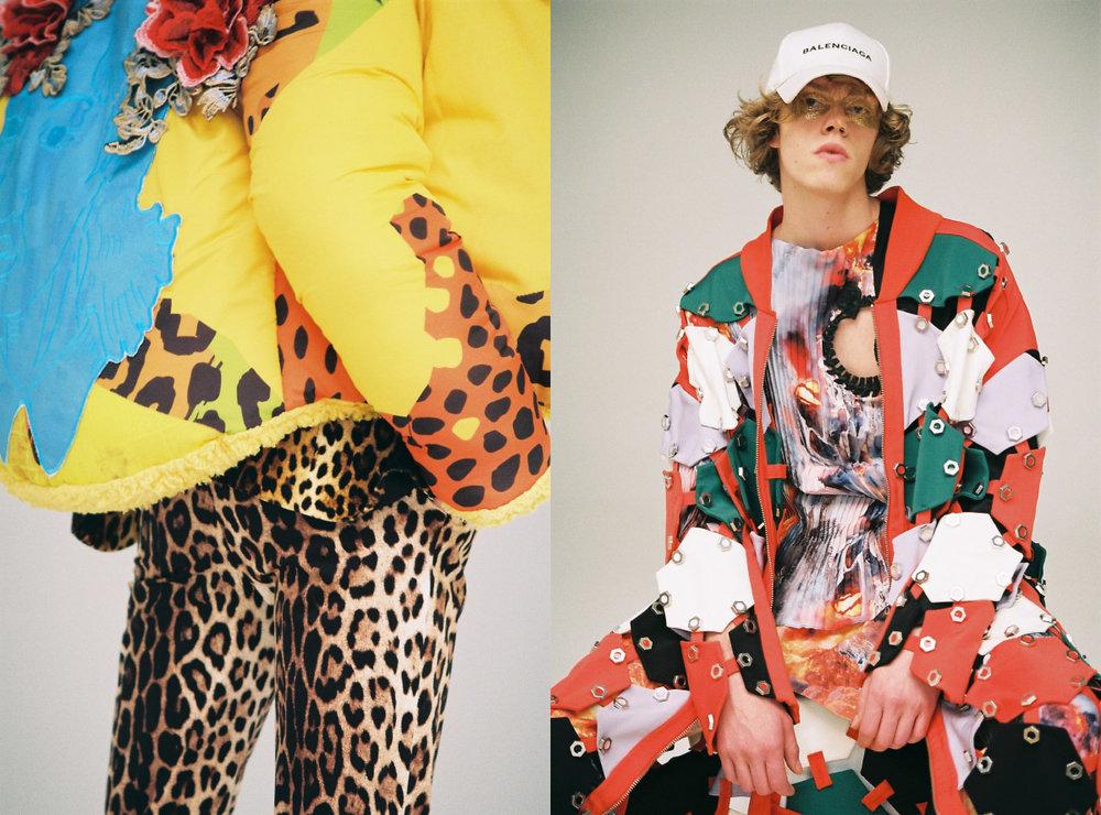 jacket BEGÜM KIRAN leopard suit GIVENCHY. cap BALENCIAGA jacket HAKAN YILDIRIM shirt BERK GÜMÜŞTERAZILI