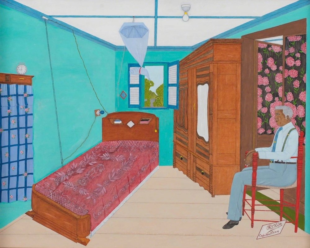 004 Artist's Chambre, 1981, Oil on masonite, 24 × 30 in, 61 × 76.2 cm.jpg