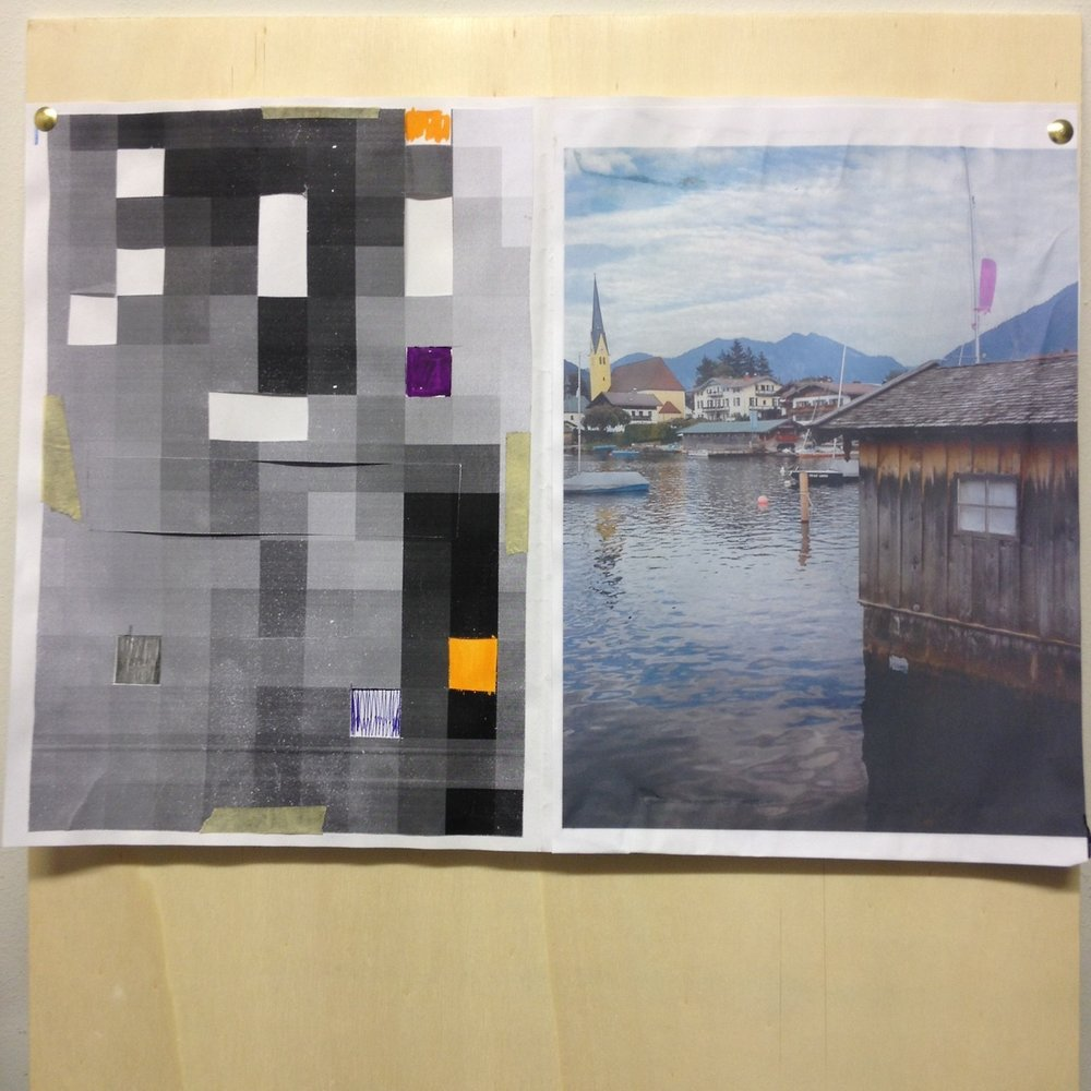 002 TimeLine:Pixels:Tegernsee, Paper:Watercolour:Pencils, 2017.jpg