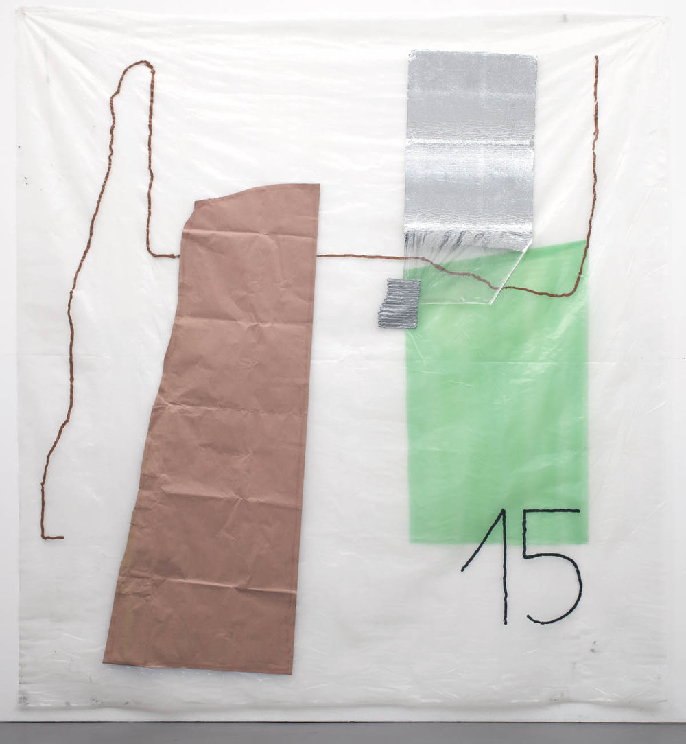 vacationwork, 2015, silicon, paper, styrofoam on plastic, 350cm x 290cm, © Bodo Schlack