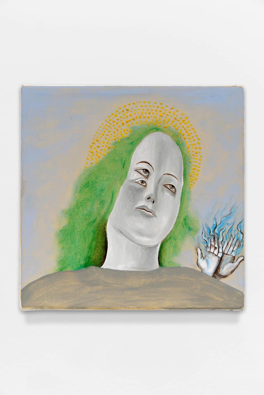 Ghiaccio...Bollente,2015, Oil on canvas, 30 x 30 cm (11 3/4 x 11 3/4 in.)