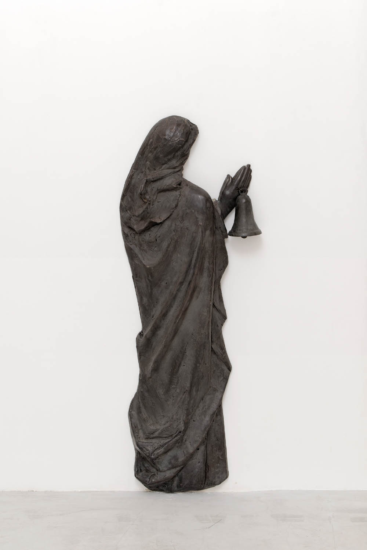 La madonna con la campana che suona, 2017, Bronze, 100 x 40 x 12 cm (39 3/8 x 15 3/4 x 4 3/4 in.)
