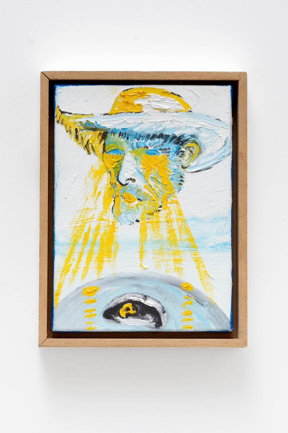 Senza titolo (serie Van Gogh), 2010, Oil on canvas, 14,5 x 10,5 (5 3/4 x 4 1/8 in.)