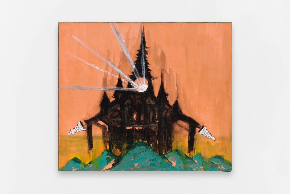 Senza titolo,2010, Oil on canvas, 26 x 30 cm (10 1/4 x 11 3/4 in.)