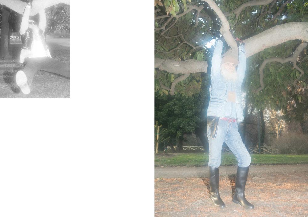 pullover   RALPH LAUREN   sunglasses   POLICE   pants   BOGGI   gilet  VINTAGE . hat   GOLDEN GATE   gilet  CONBIPEL  shirt   ROY ROGER'S   pants   LEVI'S   belt   DOLCE & GABBANA   boots  VINTAGE