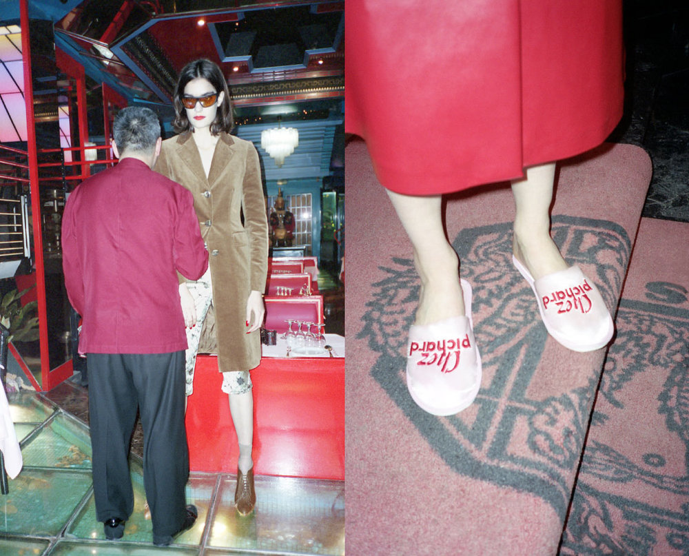 sunglasses   PAWAKA   jacket   PHILOSOPHY DI ALBER- TA FERRETTI   pant   FOMME   shoes   BALMAIN  . shoes   AMELIE PICHARD