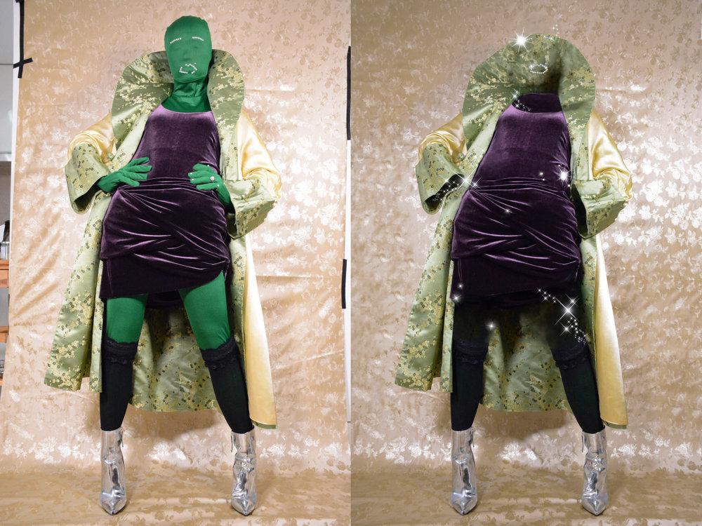 coat  STYLIST'S OWN  dress  ANNIE'S VINTAGE  shoes  CARVELA BY KURT GEIGER