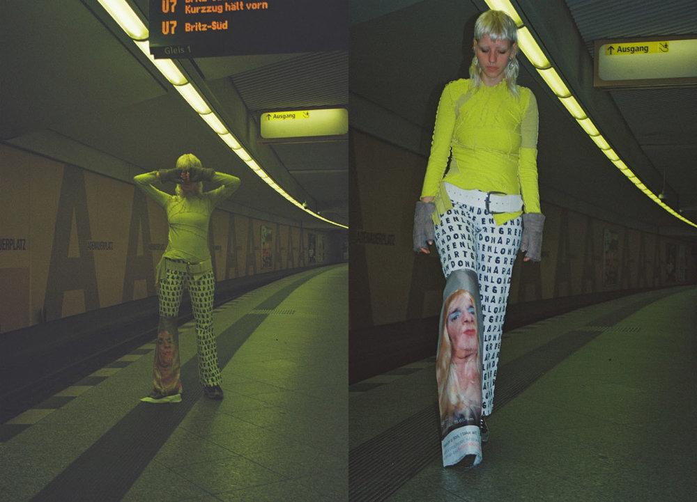 top  GIUDITTA TANZI  belt  ANN DEMEULEMEESTER  Trouser  VINTAGE  printed panel  THOMAS SOARDI  shoes  NIKE