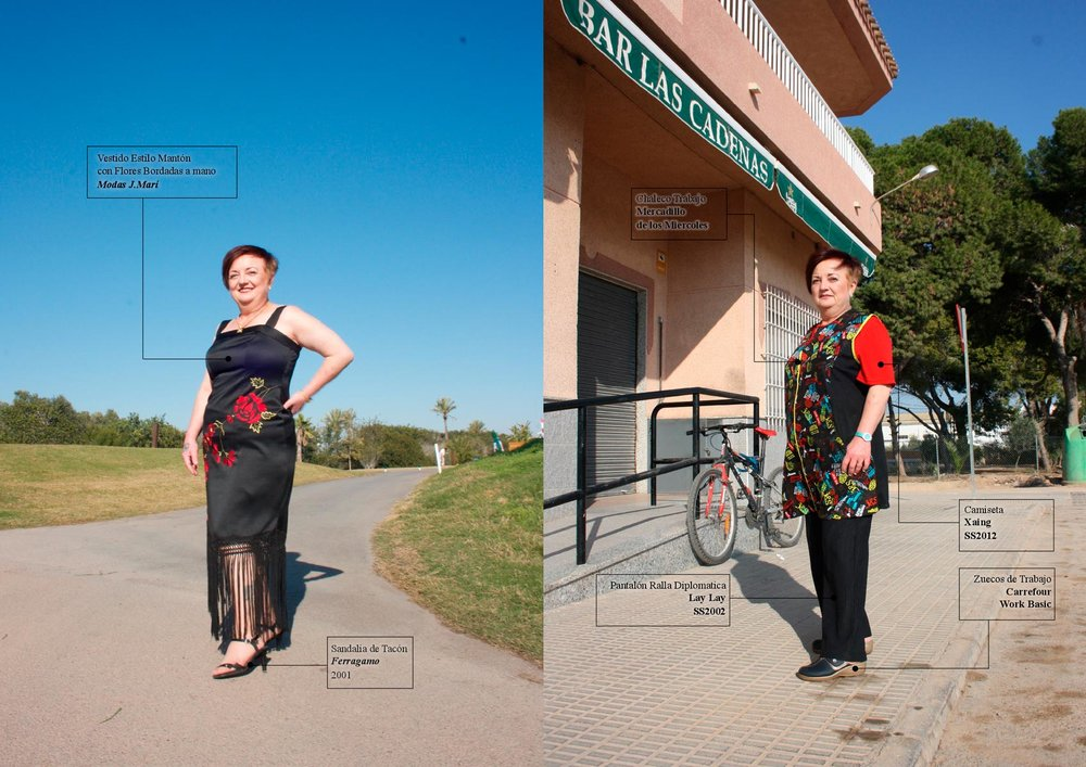 dress  MODAS J.MARI  sandals  FERRAGAMO . waistcoat  MARKETPLACE  t-shirt and trouser  AMAZON  shoes  CARREFOUR  watch  SWATCH