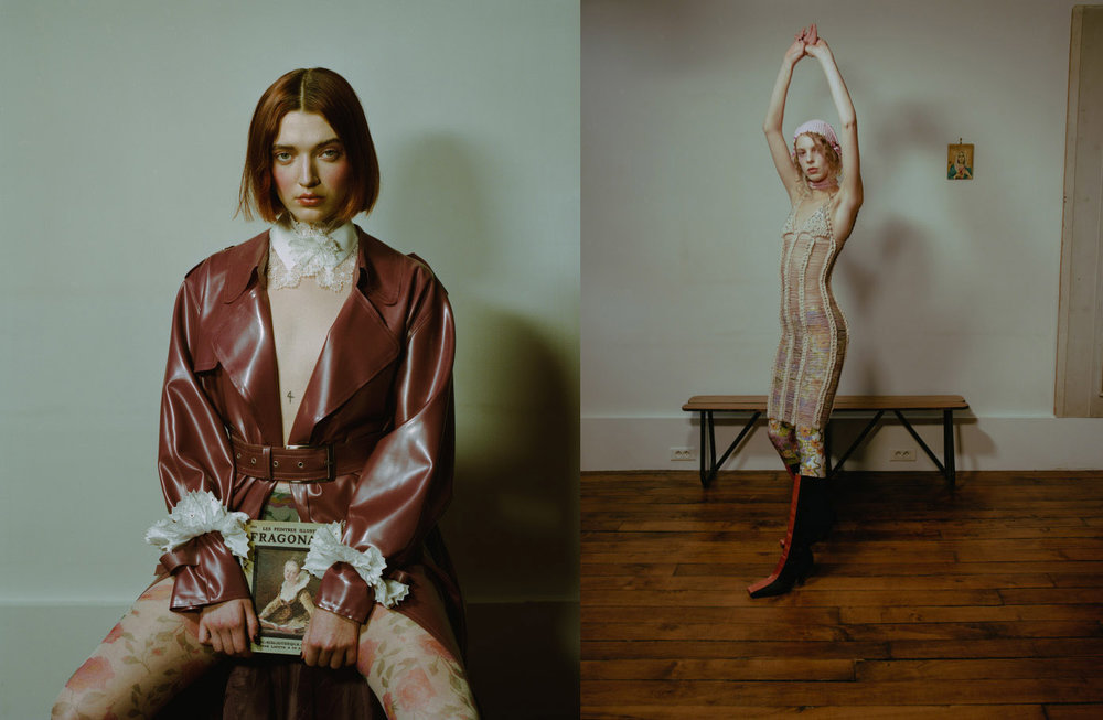 collar and cuff  CATHERINE OSTI  latex jacket  ARTHUR AVELLANO  tight  STYLIST'S OWN . total look   NEITH NYER   earring     JUSTINE CLENQUET
