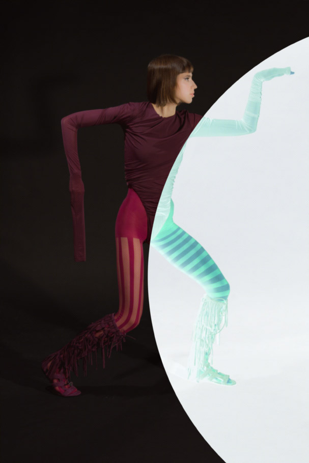 body  Y/PROJECT  tights  MAISON SOKSI  shoes  LONGCHAMP