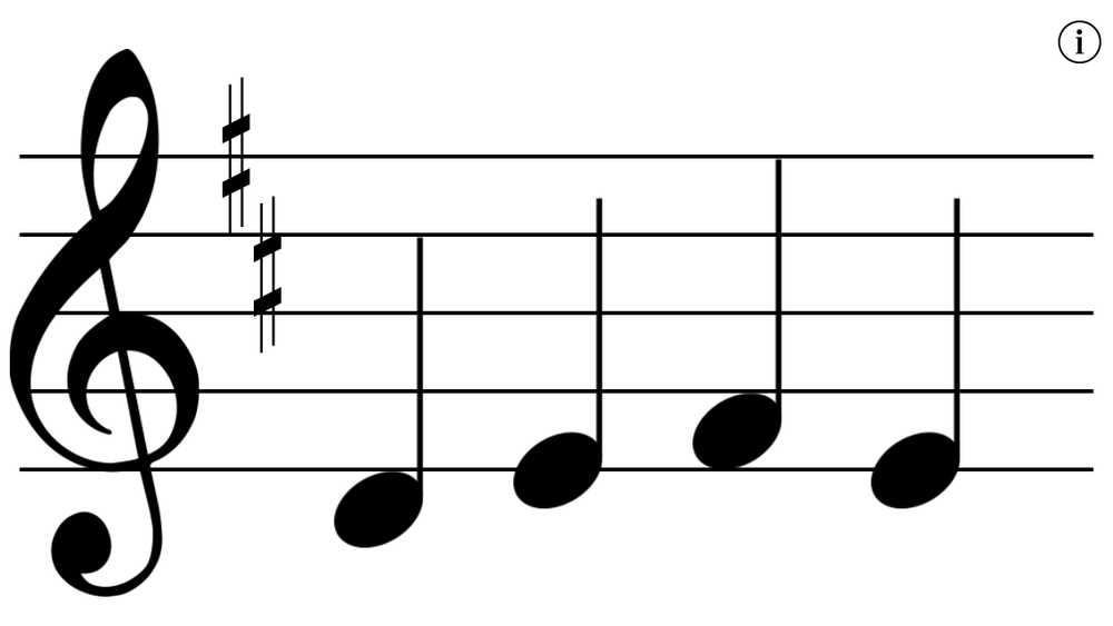 Read the notes for the given clef and key signature.