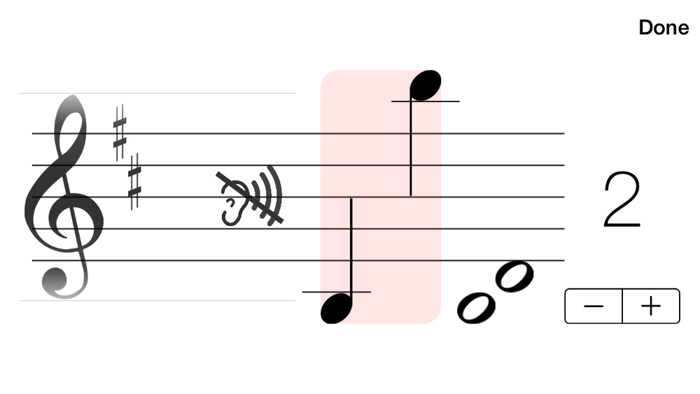The full version allows you to choose a different clef, key signature, note range and note interval.