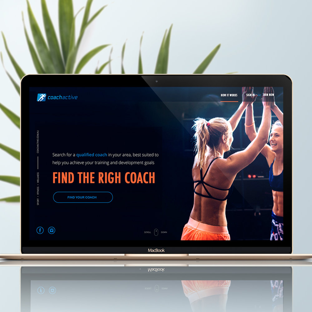 COACHACTIVE   Website Design • Mobile App