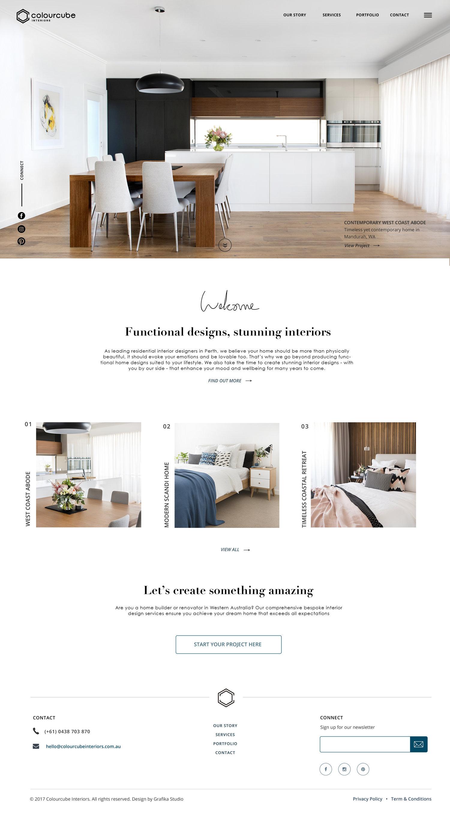 Inside A Designer\'s Website: ColourCube Interiors — Grafika Studio ...
