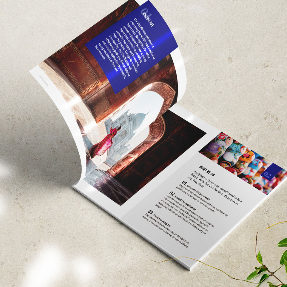 THE VISA MACHINE   Marketing Collateral