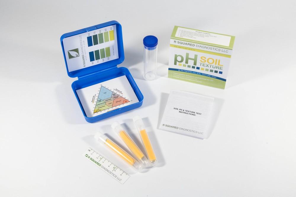 R Squared Diagnostics Soil pH (short-range pH 4.5 to 8.5)and Texture Test Kit