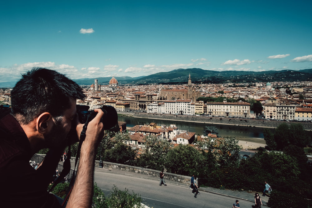 Here's a picture of me at work in Florence, Italy