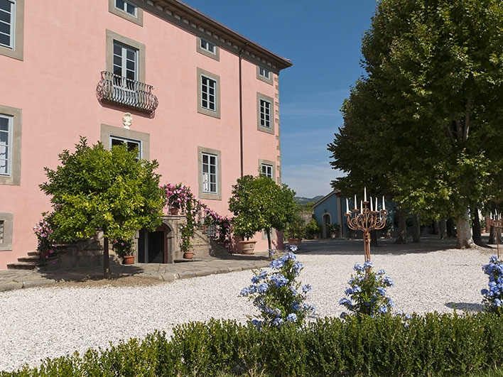 Villa Elena - An intimate villa in Lucca, for a legal, civil ceremony within the grounds, There is accommodation for 40 guests.Read More...