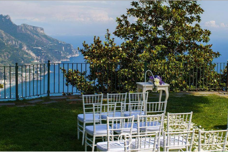 Gardens of Principessa di Piemonte, Ravello - Beautiful gardens of Ravello town hall for a civil ceremony with a view. Read More...