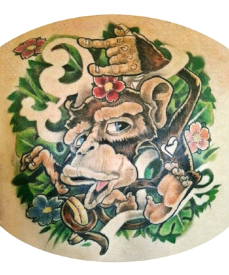 New School Monkey Tattoo Morden