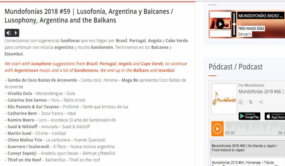 Monandengue from new album DULAis #2 Mundofonías - 2018 #59 -