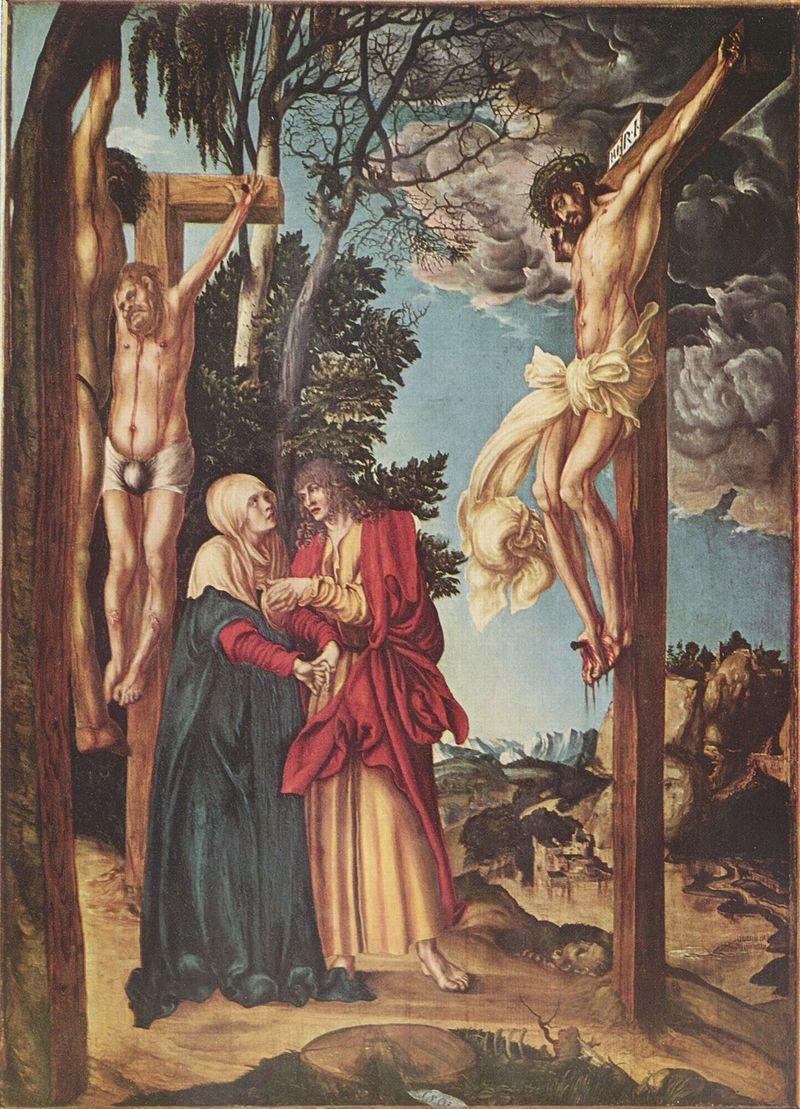 Lucas Cranach the Elder  Crucifixion of Christ (1503) Alte Pinakotheck Munich