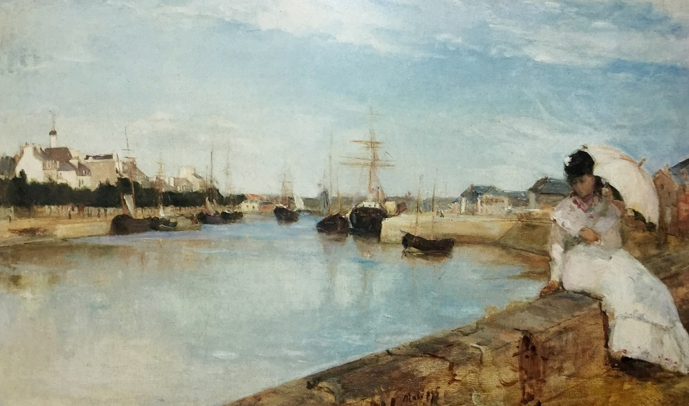 The Harbor at Lorient                                                                     Berthe Morisot