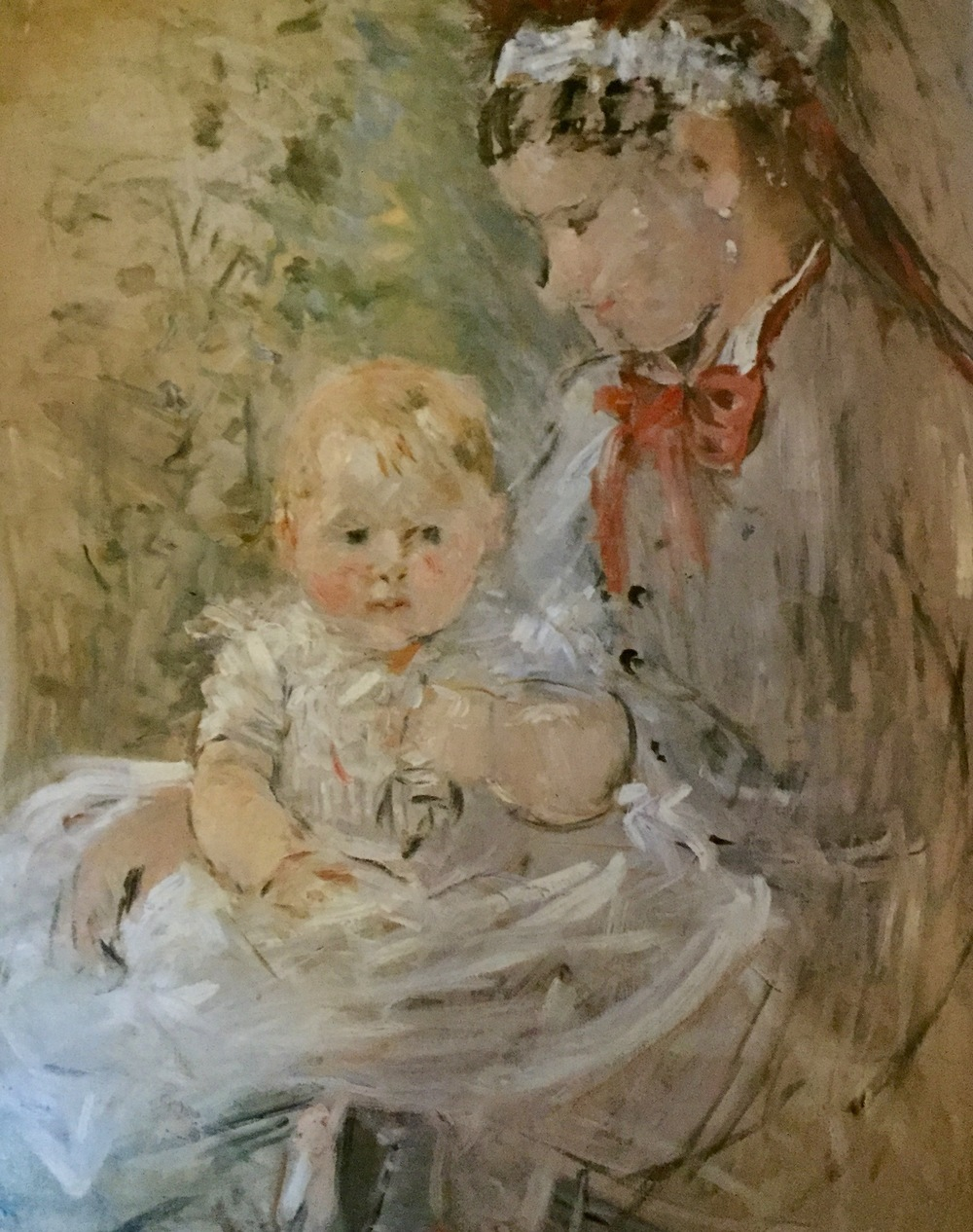 Julie With Her Nurse                                                                    Berthe Morisot